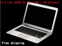Wholesale 13 Inch laptop Notebook with Intel D2500 Dual core Ghz CPU G G SSD Resolution WIN7 OS HDMI WIFI C16
