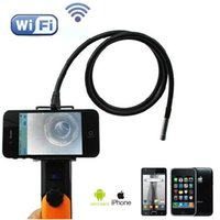 Wholesale 1M Cable mm Snake Camera HD P MP CMOS Inpsection Endoscope Camera With LEDs IEEE b g n Wifi Function