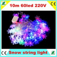 twinkle lights - 10M LED Snow Garland String light V EU Plug RGB Wedding Christmas Tree Xmas Party Fariy Twinkle Home Decoration Lights Warranty years