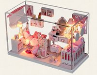 architectural house models - DIY house Princess dream house is handmade toys assembled it architectural scene model girl gifts on their birthday