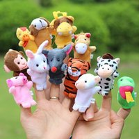 Wholesale Animal Finger Puppets Baby Games Plush Toy Story Puppet Kids Funny Theater Multifunctional Learning Plush Toy