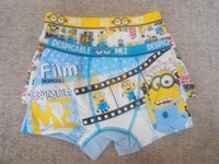 Wholesale New Cartoon Despicable Me Minion Baby Boy Cotton Underwear Pants Kids Children pants Boxer briefs