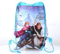 Wholesale pc New Baby Froze Bags Anna Elsa Drawstring Backpack School Bags kids froze shopping bags