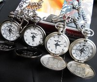 anime metal alchemist - Antique New silver tone Full metal Alchemist Pocket Watch Cosplay Edward Elric Anime watches Gift