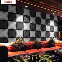 big print wallpaper - Bar KTV engineering wallpaper ultra modern three dimensional d big black and white plaid living room TV background wallpaper