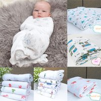 Wholesale 120x120cm New Soft Muslin Cotton Newborn Baby Swaddle Blanket Bath Towel Nursery Bedding