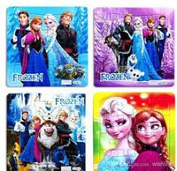 Wholesale 20 Frozen Princess Elsa Anna Puzzle Children s educational toys Gift