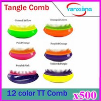 antistatic equipment - 500pcs New Fashionable color Barber Tools Salon Equipment Hair Brush Antistatic TT Shunfa Comb And Retail ZY TT