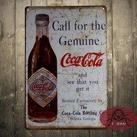 antique coke bottle - The Coke Genuine Bottle Tin Metal Sign Decor Vintage Look but Brand NEW