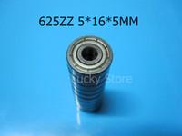 Los cojinetes 1025 de 625ZZ sellaron el envío libre del cojinete miniatura 625 625Z 625ZZ el cojinete profundo del surco del acero del cromo 5 * 16 * 5m m