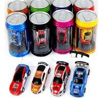 Wholesale Free DHL EMS color Mini Racer Remote Control Car Coke Can Mini RC Radio Remote Control Micro Racing Car children toy Gift