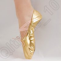 ballet boy - 20PAIR HHA710 Gold silver Size23 children soft sole girls ballet shoes Women Ballet Dance Shoes for kids adult ladies