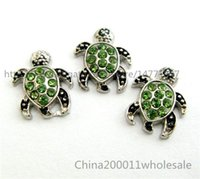 Wholesale Sea Turtle Charms Wholesale - 10pcs Sea Turtle Floating Charms FC631 11.9*10.1mm Fit Charms Locket Memory Living Magnet Glass Floating Locket Free shipping