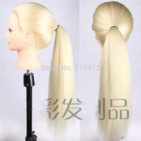 Wholesale Mannequin Sale High Quality Maniqui Mannequin Head High Temperature Fiber White Hair For College Hairdressing Dummy