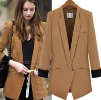Wholesale New Ms Suits Blazers The European And American Fashion Pure Color Long Sleeve Suits Blazers