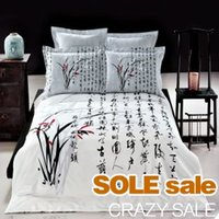 Cheap Chinese Ink 3D Bedding Sets, 3D Bed Cover, Cotton 3D Bedclothes, Queen King 3D Bed Linens Home Textiles