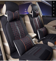 car seat covers - Cheap Auto Seat Covers Four Colors Car Seat Cover Sets Pieces Set Car Seat Cover Universal Knit Cloth Fabric Breathable Seasons