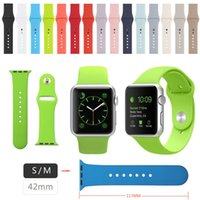 Wholesale Silicone Rubber Band Watches - 42MM S M Size Sport Strap for Apple Watch Band for Apple Watch Silicone Band