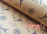 Wholesale Hide at the bottom of the Eiffel Tower bag paper gift paper wallpaper book the gift wrapping paper