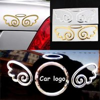 angels decals - 2 Pair D CHROME Angel Wings Car Emblem Decal Sticker Automobile Logo Decal Set Fashion car Stickers
