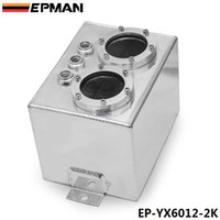 Wholesale EPMAN High Q External Dual Fuel Pump Anodized Billet Aluminum Fuel Surge Tank W O Fuel Pump EP YX6012 K