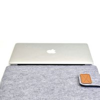 Wholesale Envelope inch Laptop Sleeve Woolen Felt Case Cover Bag For Mabook Air Pro