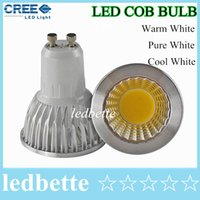 Wholesale Dimmable Led COB Lamp W W W E27 GU10 E14 V MR16 V Led Light Spotlight led bulb downlight lighting bulbs