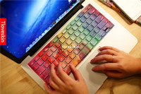 Wholesale Rainbow paint Laptop Skin Decals for Macbook Pro Keyboard and macbook air easy to use No residual