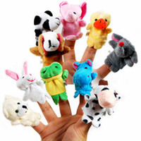 animals groups - Even mini animal finger Baby Plush Toy Finger Puppets Talking Props animal group Stuffed Plus Animals Stuffed Animals Toys Gifts Frozen