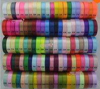 Wholesale 5 quot mm single face satin ribbon yards rolls yards mix colors colors can option
