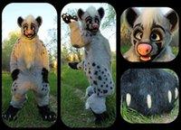 Wholesale custom hyena fursuit Mascot Costume Plush Adult Size fancy Outfit