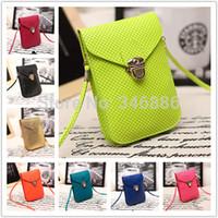 Wholesale Fashion new Korean women handbag multi layer cell phone bag purse mini women messenger bags shoulder bag bolsas purse