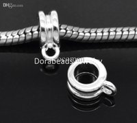 bead bails - Silver Plated Bail Beads Fit European Charm Bracelets x8mm quot x quot B19544 yiwu