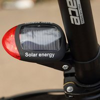 bicycle powered energy - 3 Mode Solar Power Energy Rechargeable Bicycle Tail Light with Red LEDs B069