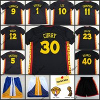 Wholesale 2015 chinese new year of sheep year curry jerseys golden state iguodala lee thompson green black mix order