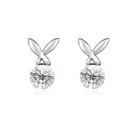 Wholesale 5 Colours Made with Swarovski Elements K Gold Plated crystal Stud earrings for women New Sale Hot