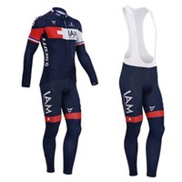 Wholesale IAM Pro team Cycling Bike Long Sleeve cycling Jersey cycling bib pants Suit High quality cycling clothing
