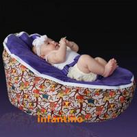Wholesale HOOT OWL WITH PURPLE SEAT Giant bean bag chair bed sleeping bag cartoon home beanbag
