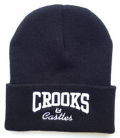 Wholesale CROOKS HIPHOP Swag Hat Skullies Casual Beanies Warm Cap For Women s Men s Knitted Gorros Autumn Winter Outdoor Gorra