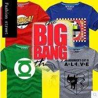 big cooper - New Big Bang Theory T shirt Sheldon Cooper super hero green lantern the flash cosplay t shirts men women geek tee TBBT tshirt