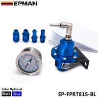 Wholesale EPMAN Fuel Pressure Regulator Sport Type S Adjustable Fuel pressure Regulator turbo Liquid Gauge Psi EP FPRT81S