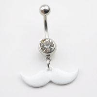 belly button piercing price - 0215 Nice style beard Navel Belly ring CLEAR stone piercing jewelry drop shipping factory price