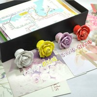 Wholesale 5pcs Vintage Rose Flower Ceramic Knob Cabinet Drawer Kitchen Cupboard Pull Furniture Handle