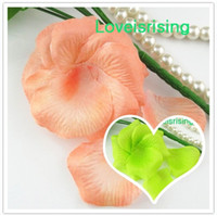 artificial peach roses - Hot Sale packs Peach Non Woven Fabric Artificial Rose Flower Petal For Wedding Party home Favor Decor