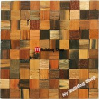 backsplash panels - Natural wood mosaic tile rustic wood wall tiles NWMT001 kitchen backsplash tile wood panel pattern tiles mosaic