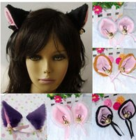animal hats long cat - Playful Anime Costume Cat Fox Ears Long Faux Fur Hair Clip Pair Party Cosplay