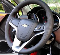 Wholesale for chevrolet Cruze sedan hatchback sew on genuine leather car steering wheel cover For cruze accessories