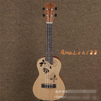 Wholesale Mini inch Sqruce Ukulele new beginner small guitar wood colour factory direct retail Musical Instruments