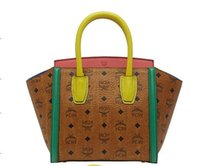 Wholesale MCM bag travel bag shoulder bag backpack punk style Hit color smiley package hb192