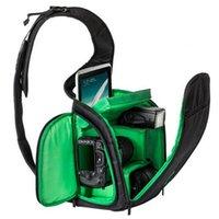 backpack chest strap - 2015 Hot Sale Camera Backpack Bag Waterproof DSLR Case Sling Flipside Digital Camera Bag Chest Chest As Gift Green Orange